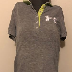 Women's size M Under Armour grey polo top